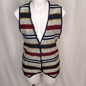 Express Tricot vintage muti-colored sweater vest